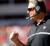 Jack Del Rio shares what he told his Raiders after their record-breaking 23 penalties