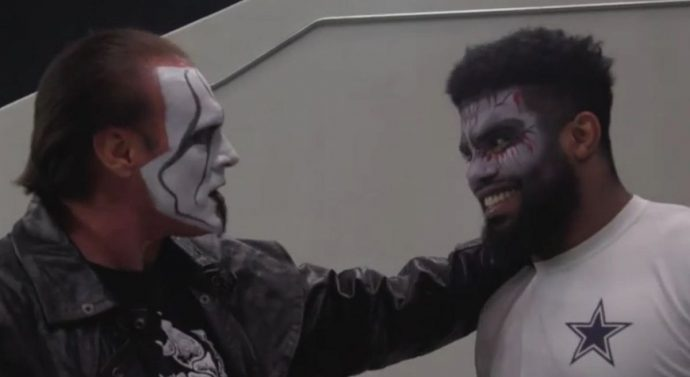 The Dallas Cowboys 'hired' wrestling legend Sting as an intimidation coach