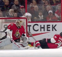 Watch a 'helpless' Mark Borowiecki  fall all over the ice after losing his skate blade