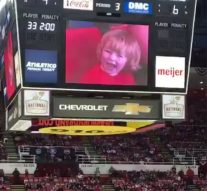 Detroit crowd goes wild for adorable kid on scoreboard, boos everyone else