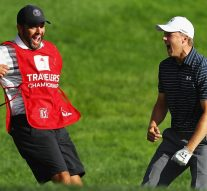 Watch: Spieth drains bunker shot for win, goes crazy