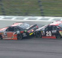 Christopher Bell pulls off a slide job on Erik Jones to win at Kansas | 2017 NASCAR XFINITY SERIES