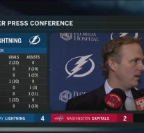Jon Cooper liked how Lightning started things off Tuesday night