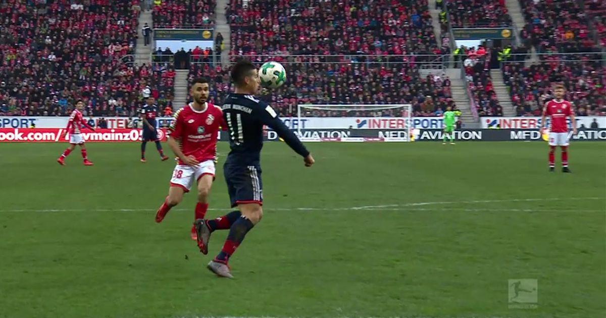 James Rodriguez Scores Superb Volleyed Goal For Bayern Vs